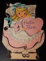 Vintage Hallmark Hello There Valentine Greeting Card Used