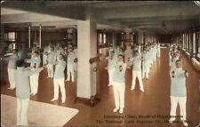 Dayton OH National Cash Register Works Exercising Class Heads Depts Postcard
