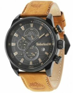 TIMBERLAND Mens Dual Time Quartz Watch with Leather Strap 14816JLB/02