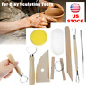 8PCS Clay Sculpting Set Wax Carving Pottery Tools Polymer Ceramic Modeling Kit