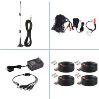 Tonton 12V 2A DC Power Supply BNC RCA 100FT 30m Cable Extension Cable for CCTV