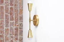 Brass Sconce Light - Wall Sconce - Modern Sconces - Gold Wall Light -Mid-Century