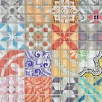 Retro Vintage Mosaik Fliese Transluzent Glas mehrfarben 88-Retro-31_f 10 Matten