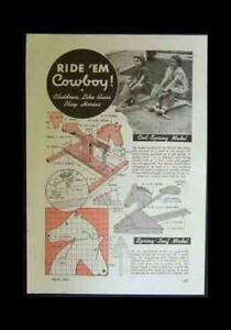 2 Simple ROCKING HORSE 1944 How-To build PLANS Leaf and Coil Spring