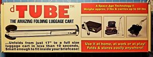 The Amazing dTube Folding Luggage Cart, Weighs 3 Pounds, Takes 60 Pound Payload!