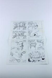 ORIGINAL COMIC ART DRAWING China Chinese 1990s Caricature