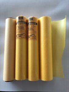 """4 Rolls 12"""" Tracing Paper, (2 Opened). Borden Riley Yellow Canary 50 SG-35C"""