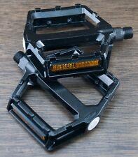 "LowPro Black Platform Bike Pedals 9/16"" Fixed Gear Track BMX MTB Cruiser Bicycle"