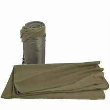 Camping Sofa Travel Military Army Fleece Blanket Throw w/ Stuff Sack Green NEW
