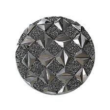 Resincabochons im Perlmutt Design in schwarz 14 x10 mm 4 Stück DIY Vintageparts