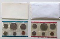 USA 1975 Uncirculated Mint Set Philadelphia Denver Umschlag Bicentennial 1c-1$
