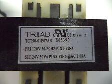 Triad Control Transformer 120V/24V 50VA TCT50