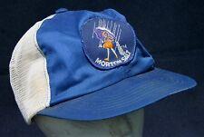 Vintage Morton Salt Blue White Mesh Trucker Hat Cap Snapback Patch