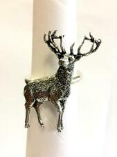 Stag Scarf Ring, Handmade in England from Fine English Pewter. Brooch