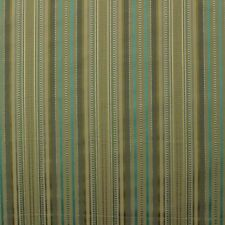 "P KAUFMANN LOIS STRIPE GRASSHOPPER OLIVE GREEN AQUA BLUE FABRIC BY YARD 57""W"