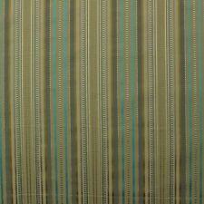 "P KAUFMANN LOIS STRIPE GRASSHOPPER OLIVE GREEN AQUA BLUE FABRIC BY YARD 57""W"