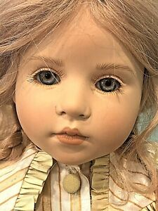 """2000 WPM by Hildegard Gunzel  21"""" Doll Marie-Christin 5512 with Stand"""