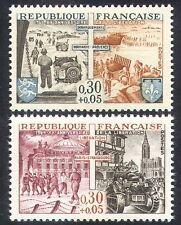 FRANCIA 1964 SECONDA GUERRA MONDIALE/Jeep/serbatoio/MILITARY/WAR/Barca/liberazione 2v Set (n30896)