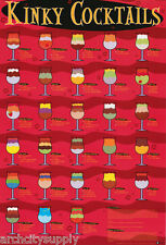 POSTER :COMICAL: KINKY COCKTAILS  - FREE SHIPPING!  #24-204  LW13 V