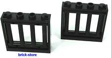 LEGO noir Prison/Grille 1x4x3 Fenêtre / 2 Pièces