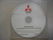 2008 2007 MITSUBISHI OUTLANDER Service Repair Manual CD BRAND NEW