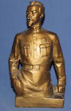Vintage Russian hand made plaster figurine Dzerzhinsky