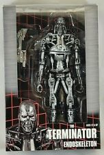 Misp Neca Reel Toys Terminator T-800 Endoskeleton Silver Movie action figure 7""