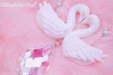 Swan Lake Kiss Angelic Lolita Fancy Elegant Princess Dreamy Crystal Necklace