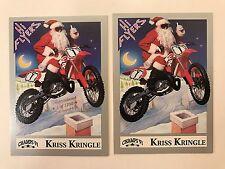 PROMO CARDS: HI-FLYERS 1991 Champs UNC91 KRISS KRINGLE: 2 DIFFERENT (1 has foil)