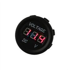 Universale 12 - 24V Impermeabile Digitale Voltometro Rosso LED Per Auto Moto