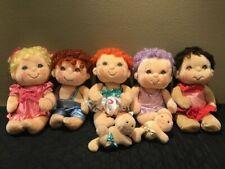 Lot 5 Vintage Hugga Bunch 2 baby Hugglets Plush Dolls Kenner Hallmark 1984