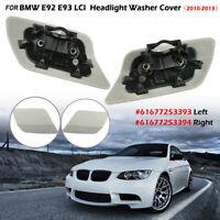 Pair Headlight Washer Cover Bumper Flap Left+Right For BMW E92 E93 LCI 2010-2013