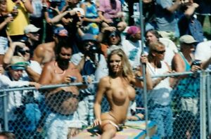 Nude Color Real Photo- Beauty Contest- Dancer- Woman- Blond- Pole- Candid #30