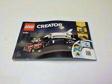 LEGO Creator 31091Instruction manual only for Shuttle Transporter