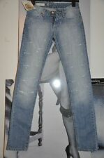 """WOMEN DESTROYED SKINNY JEANS """"FLY GIRL """"TENDER BLUE DECOR CRYSTALS  6 SIZE S"""