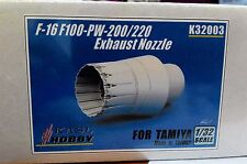 KASL Hobby 1/32 F100-PW200 Exhaust Nozzles Set For F-16 resin upgrade Tamiya kit