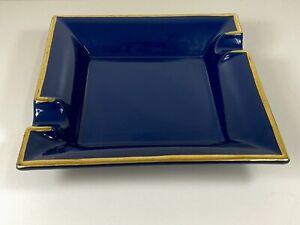 Craftsmans Bench Rhapsody Royal Blue Ceramic Cigar Cigarette Ashtray