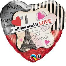 "Valentines Day All You Need is Love Parisian 18"" Qualatex Foil Balloon"