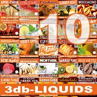 E-Liquid verschiedene Sorten  10, 50, 100, 250ml ohne Nikotin 3db-Liquids 859