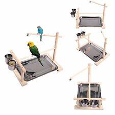 "New listing Parrots Playstand Bird Playground Wood bird train stand(14.1""L 9""W 11.8"" H)"