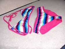 GIRLS SIZE X LARGE ( 14 ) *OLD NAVY* STRIPED  SWIMSUIT 2 PIECE  NWT