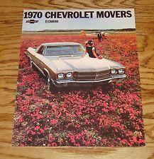 1970 Chevrolet El Camino Foldout Sales Brochure 70 Chevy