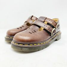 Dr. Martens Airwair Brown Double Strap Buckle Mary Janes 8185 Womens Size 2 UK