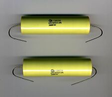 BATCH OF 2 CAPACITORS POLYPROPYLENE VERY HIGH VOLTAGE 22 nF - 10 kV LOW Z OSTC
