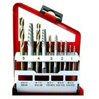 10pc Screw Extractor and Cobalt Right Hand Drill Bit Set,Bolt and Stud Removers