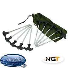 NGT Heavy Duty Camping Tent Bivvy Fishing Umbrella Shelter Pegs x 10