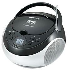 NAXA NBP252-BLK Portable MP3/CD Player with AM/FM Stereo Radio (Black)