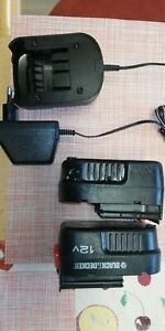 2x Black&decker A12E Akkus Und Ladegerät