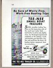 1953 Print Ad Tee-Nee Small Boat Trailers Model OB-40 Youngstown,OH