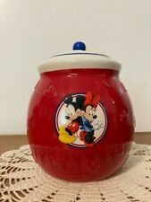 Hallmark Mickey Mouse Red, White, & Blue Treat Jar w/ Lid. Excellent Condition.